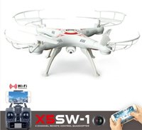 Wholesale New version Drones SYMA X5SW WIFI RC Drone FPV Helicopter Quadcopter with HD Camera G Axis Real Time RC Helicopter Toy DHL free