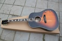 Wholesale OEM factory guitars Chibson J160 acoustic guitar vintage sunburst J160 acoustic electric guitar with neck pickup mahogany body