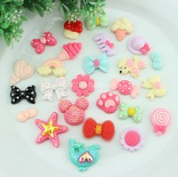 Wholesale Set of Novelty kawaii Resin animal sweets Flower Miniature Glitter Deco cabochon Flatbacks mix SZ0130