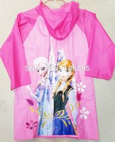 Wholesale 4pcs Frozen Raincoat princess Elsa Anna Frozen Rain Gear Cartoon Girls Raincoat