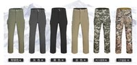 Wholesale Outdoor Men s TAD Sharkskin Softshell Sports Long Pants Breathable Waterproof Windproof Hiking Camping Trousers Military Stalker Pants