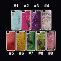liquid silicone - Floating glitter Star Running Quicksand Liquid Dynamic Hard Case clear transparent shining Cover For iPhone4 s s iphone plus