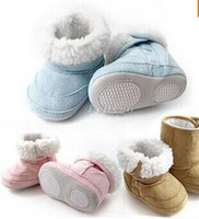 boots baby fur - 2014 New Fashion Super Warm Winter Baby Ankle Snow Boots Infant Shoes Pink Khaki Antiskid Keep Warm Baby Shoes First Walkers QY0093
