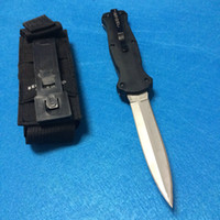 benches design - Hot Bench made Infidel McHenry Design Tactical silver Blade HRC Spear Point Nylon Sheath knife knives