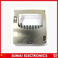 Wholesale 100pcs Moles TF card holder Memory Card reader tray fenestration Type self push inne welding
