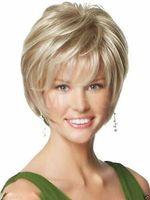 Wholesale Cheap New wig Sexy Women s Short Blonde mix Wigs Women s Wigs