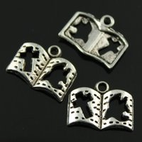 antique book plates - 150pcs mm colors antique bronze antique silver plated cut off cross and peace book charms