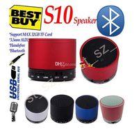 aluminium bluetooth - S10 Bluetooth Speakers Mini Wireless Aluminium Portable speaker HI FI Music Player Audio TF Slot Handfree Mic Stereo for S5 note4 Mp3