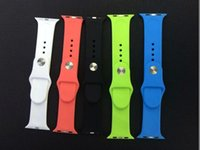 apple watchband - New WatchBand For Apple Watch Strap Split Silicone Wrist Band Strap For apple watch mm mm with Adapter Connector