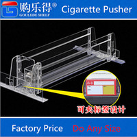 Wholesale Supermarket Cigarette Pusher Cosmetic Beverage Automatic Pusher Cigarette Holder Storage MS Rack Shelf Buffet Replenishment Device