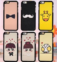 beard cover - customized hard leather skin phone cover cute girl big funny beard pc case for Apple iPhone s s plus