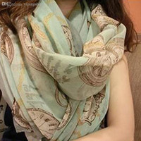 air yarn - S260 Women Watch Paris yarn scarf cotton oversized dual use air conditioning in scarves shawls free ship