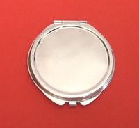 Wholesale Round Metal Blank Compact Mirror Promotional Gift for XMAS