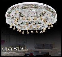 Wholesale AC100 V D65cm W or W Remote Control Modern LED Ceiling Light LED Crystal Lamp Lustre chandelier Fixture home led lighting