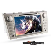 Wholesale Lastest GPS Navigation Rear Camera quot Car DVD CD Player Radio Stereo Special For Toyota Camry Head Unit Bluetooth Car DVD Video