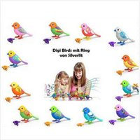 big bird sings - 8pcs CCA2407 Creative Cute Cartoon Hot Digi Birds Pets Music Electric Bird Singing Bird Toys With Button Battery Christmas Gift For Kids