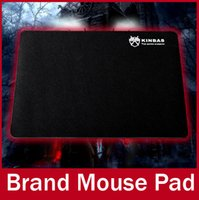 Wholesale KINBAS Brand x x mm Top Game Mouse Pad PC Computer Laptop Gaming Mice Play Mat Mousepad Fabric Rubber Material