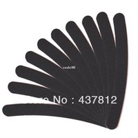 long nail art tips - Large Long Professional Crescent Art Grit Black Sandpaper File Nail Files for Nail Art Tips Manicure
