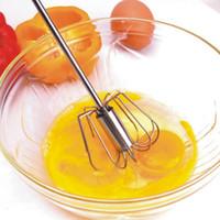 Wholesale 2Pcs Dining Stainless Steel Egg Whisk Beater Eggs Blender Mixer Cooking Utensils