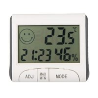 Wholesale The Newest Design For LCD Digital Temperature Tester Wireless Hygrometer Temperature Humidity Meter