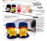 anti slip strips - pairs cute yellow stars strips Shoes style baby socks for months new born floor socks anti slip Flipper