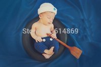 baby model photos - sailor modelling Hat And Pants baby Set Newborn Photography Prop baby Crochet Photo Prop cotton
