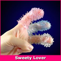 Wholesale Finger Condom Sex Products Vagina Stimulation Finger Sleeve Stimulator Condom Massager for Women Lesbian Adult Sex Toy