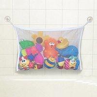 baby bathtub set - 2015 Fashion New Baby Toy Mesh Storage Bag Bath Bathtub Doll Organizer Suction Bathroom Stuff Net LW Christmas Gift LIX