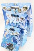 Cheap 24 pcs lot Frozen Anna Elsa PVC Gift Bag Party Supplies Birthday Party Candy Bag Shopping Handbag Christmas Gift