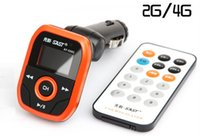 Wholesale Genuine SAST car MP3 a bag power and memory mp3 player remote control type transmitter with G memory a variety of colors