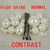 Wholesale Ivory No Hole Rund Pearls High Shine No Hole Imitation Pearls Perfect Craft Art Diy Pearl Beads