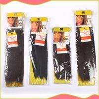 Wholesale Premium Now Yaki Human Hair Mixed Synthetic Hair Extension Blended Machine Hair Weaving Hair Weft B