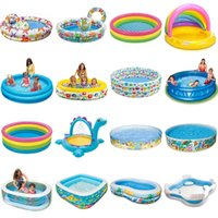 Wholesale INTEX baby inflatable swimming pool bathtub child paddling pool size up to cm styles optional