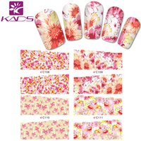 beautiful flower backgrounds - LARGE C108 Set DESIGNS IN Water decal full cover Nail Stickers Beautiful Flower design white background design decal