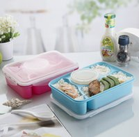 Wholesale Hot Lunch Box Fully Sealed Food Container Compartments Bento Box Soup Bowl With Plastic Scoop Pratos Microwave Meal tools