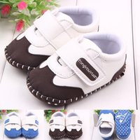 Wholesale New Spring Baby Girls Boys First Walker Shoe Infant Leather Sport Prewalker Toddler Antiskid Shoe Children Casual Footwear YW S36