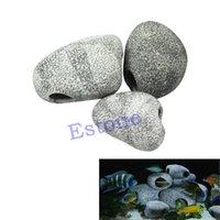 aquarium cichlids - 1PC Middle Aquarium Rock Cave Ceramic Stone Decoration For Cichlids Fish Tank