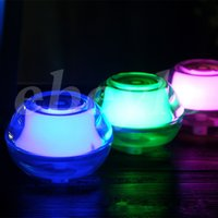 Wholesale Free DHL Beauty Backlight Crystal USB Air Ultrasonic Humidifier Fogger Aroma Mist Maker Aromatherapy Essential for Home Office