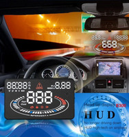 Wholesale US Stock E300 quot Car Head Up Display HUD OBDII Speed Warning System D Reflect Display Car Accessories