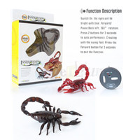 Wholesale Practical Jokes Novelty infrared RC scorpion Tricky toys innovation Electronic Pet Toys the best Halloween April Fool s Day