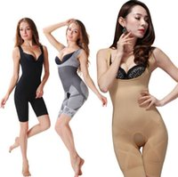 Bodysuits bamboo charcoal slimming suit - 3 Color Sizes Bamboo Full Body Shaper Slimming Tummy Underwear Shapewear Body Shaper Suit Bamboo Charcoal Corset Pants