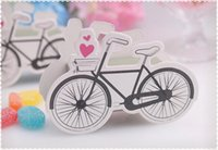 Wholesale 50 Wedding Favor Box Print bicycle Paper Bags Small Gift Chocolate Sweet Favors Candy Boxes For Gifts Party Packaging BG50273