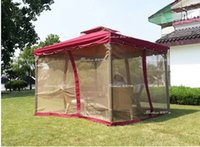 awning curtains - High Quality Outdoor Tent With Curtains Car Awning Display Big Tent Sun Protection Car Shed Rome Tent