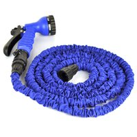 plastic water nozzle - 25FT FT FT FT FT Blue Expandable Flexible Water Garden Pipe Gardening Waterpipe Plastic Hose With Spray Nozzle