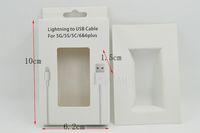 embalaje para el cable de datos del usb de iphone s caja de papel del color g papel blanco fuerte con la ventana del pvc buena