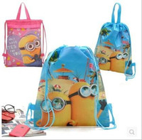 hello kitty school bag - Retail New Arrival Quality Cute Despicable Me Minion Backpack Child PRE School Kid Boy and Girl Cartoon Bag LJJH293