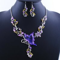 Wholesale 2015 P New Hot Sell Vintage Bridal Earrings Necklace Sets bride bow beading bead Jewelry set for wedding dress