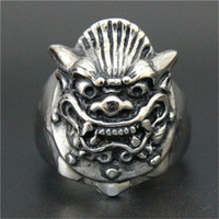 Wholesale 1pc Fast Dragon Head Ring L Stainless Steel Popular Fashion Gothic Style Band Party Animal Head Ring