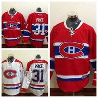Jeunesse N ° 31 Carey Price Rouge Accueil White Road à l'extérieur Premier gardien de but des Canadiens de Montréal de la LNH de hockey sur glace piqué Maillots enfants Sports authentiques