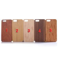 Wholesale free epacket Handmade Artisan Natural Genuine Eco Bamboo Walnut Hard Wood Case for iPhone Plus s s case with retail package